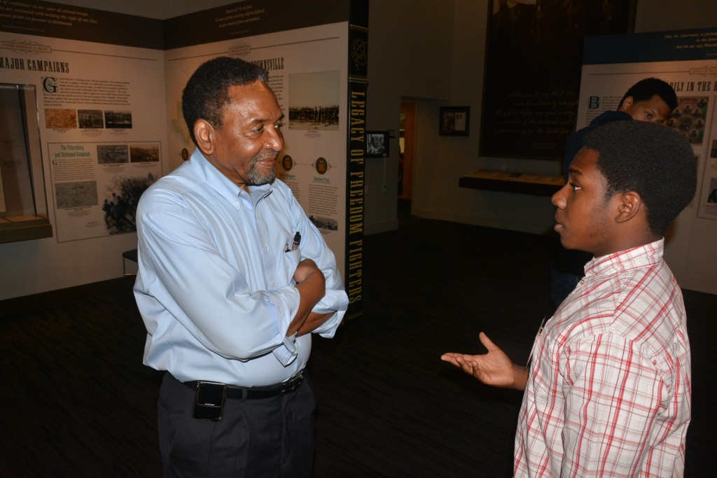 SNCC veteran and AACWM founder Frank Smith talks with Noah Martin about his efforts to document and share history in McComb.
