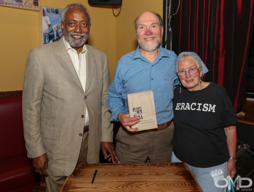 "Panelists Amos Townsend and Randall C. Jimerson with Freedom Rider Joan T. Mulholland with the new book, ""Shattered Glass in Birmingham: My Family's Fight for Civil Rights 1961-1964."""